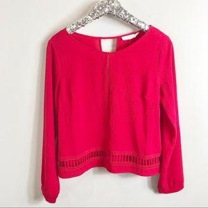 Lush Brand Berry Red Blouse Size Medium